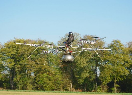 Four Quadcopters fly a man – first manned multicopter flight ...
