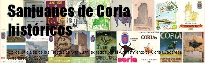 Sanjuanes de Coria históricos-0. Primeros libros: 1936, 44, 45, 1951-59.