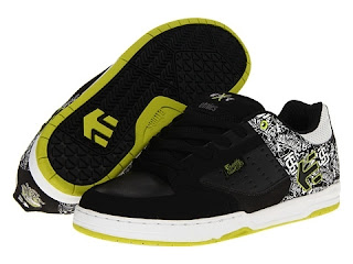 Etnies Famous Twitch Cartel Skate Shoes Black clothing mens motox fmx skull