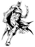 Batman With Bumerang Coloring Sheet