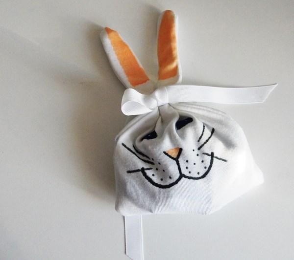 DIY : le pochon lapin de Pâques