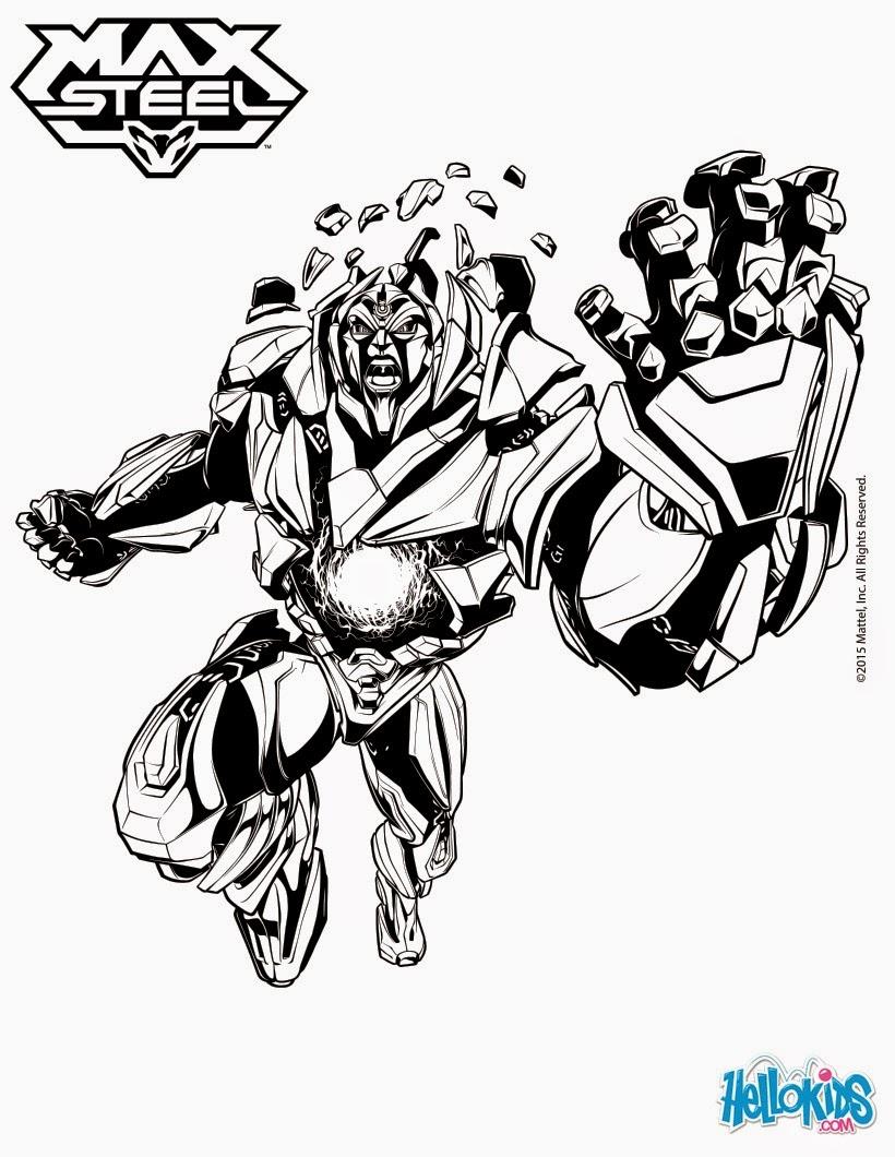 Dibujos para colorear de Makino, Extroyer y Dredd | Max Steel Reboot