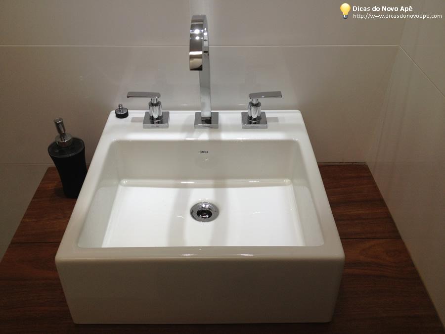 Dia a dia Cubas dos Banheiros  Dicas do Novo Apê -> Cuba Dupla Banheiro Deca