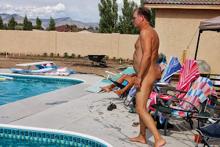 Guy nude at our pool party