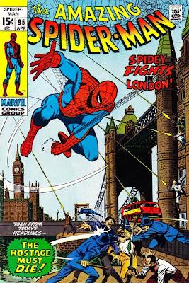 Amazing Spider-Man #95, London, Tower Bridge