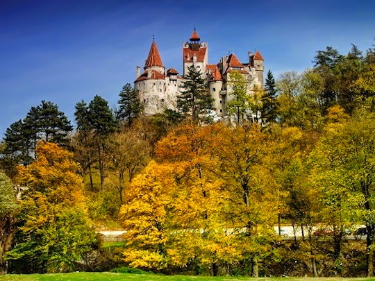 a photo from Bran Castle in Romania