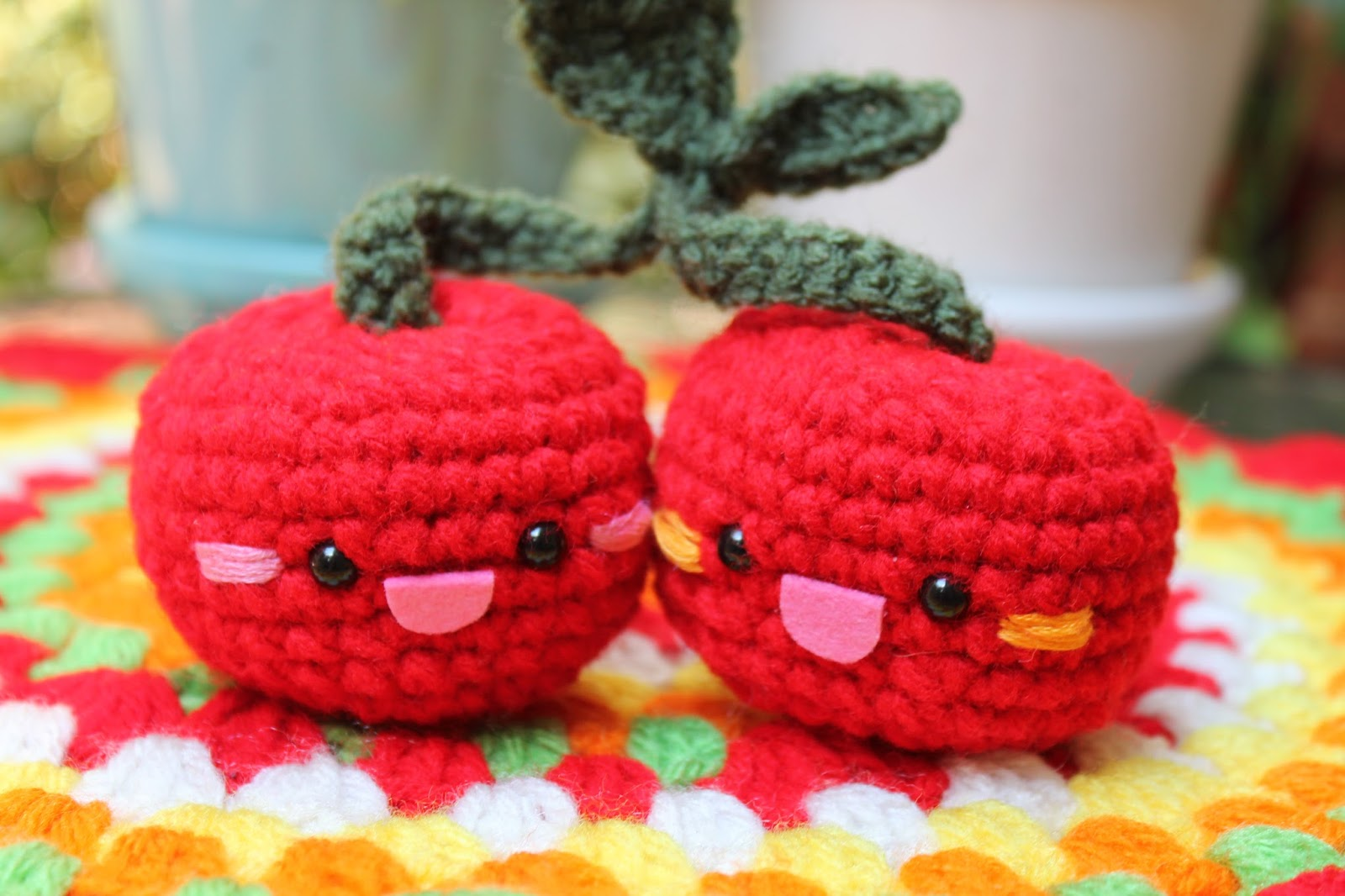 Amigurumi Food : Amigurumi Food: Cherry Amigurumi