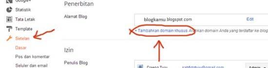 cara merubah blogspot menjadi dot com