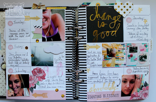 Feb planner pages by Bernii Miller using the Heidi Swapp planner 2015.
