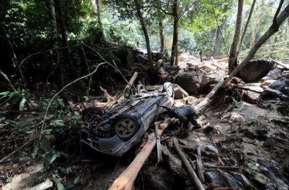 Sekitar kejadian tanah runtuh di Km52.4 Lebuhraya KL-Karak