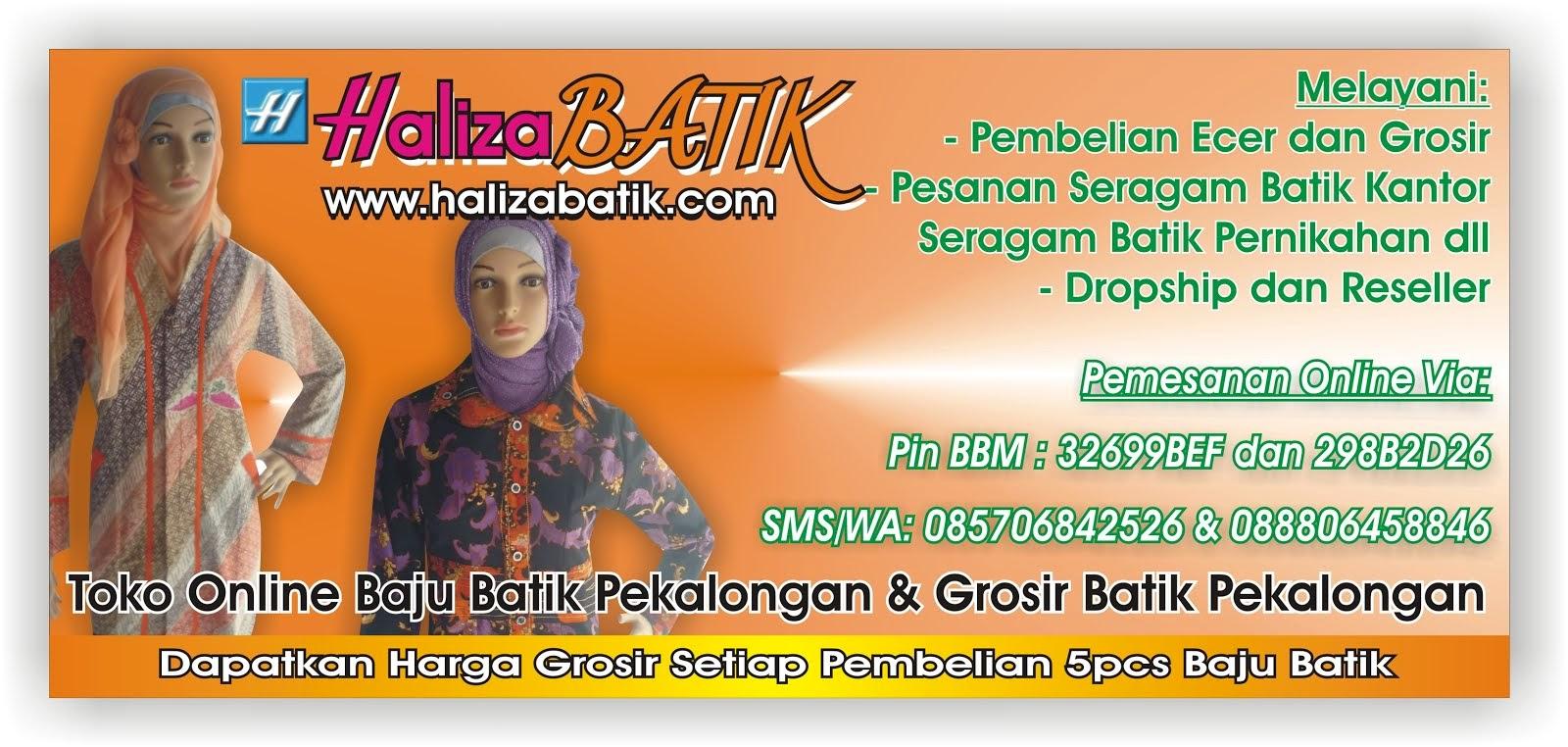 Seragam Batik Haliza, Batik Pekalongan Haliza, Grosir Batik Pekalongan
