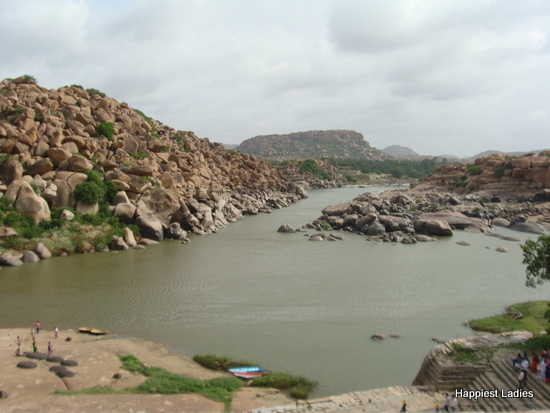 Chakratirtha bathing ghat at Tungabhadra