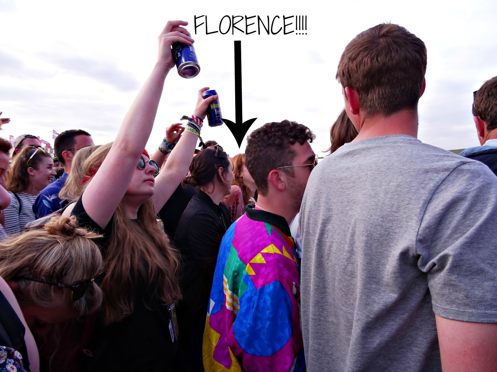 Florence partying at Glastonbury