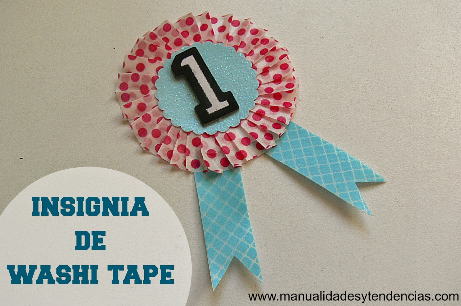 Condecoración de washi tape