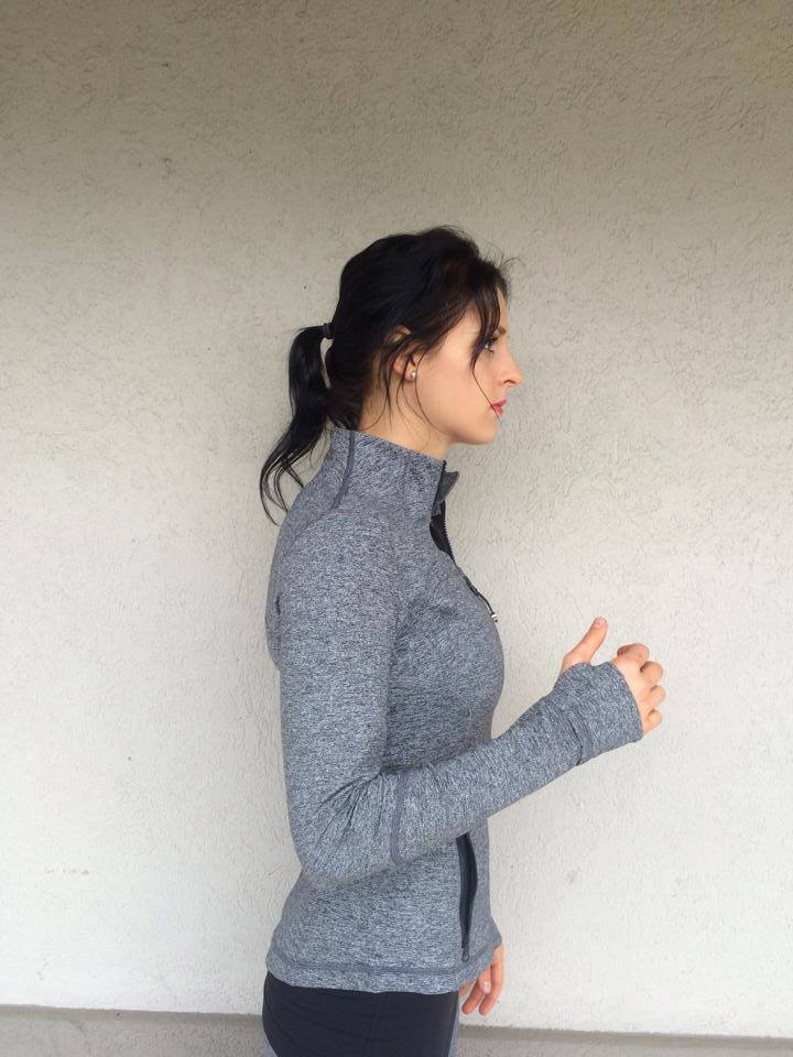 lululemon heathered deep coal forme jacket