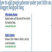 adsense under tittle on blogger