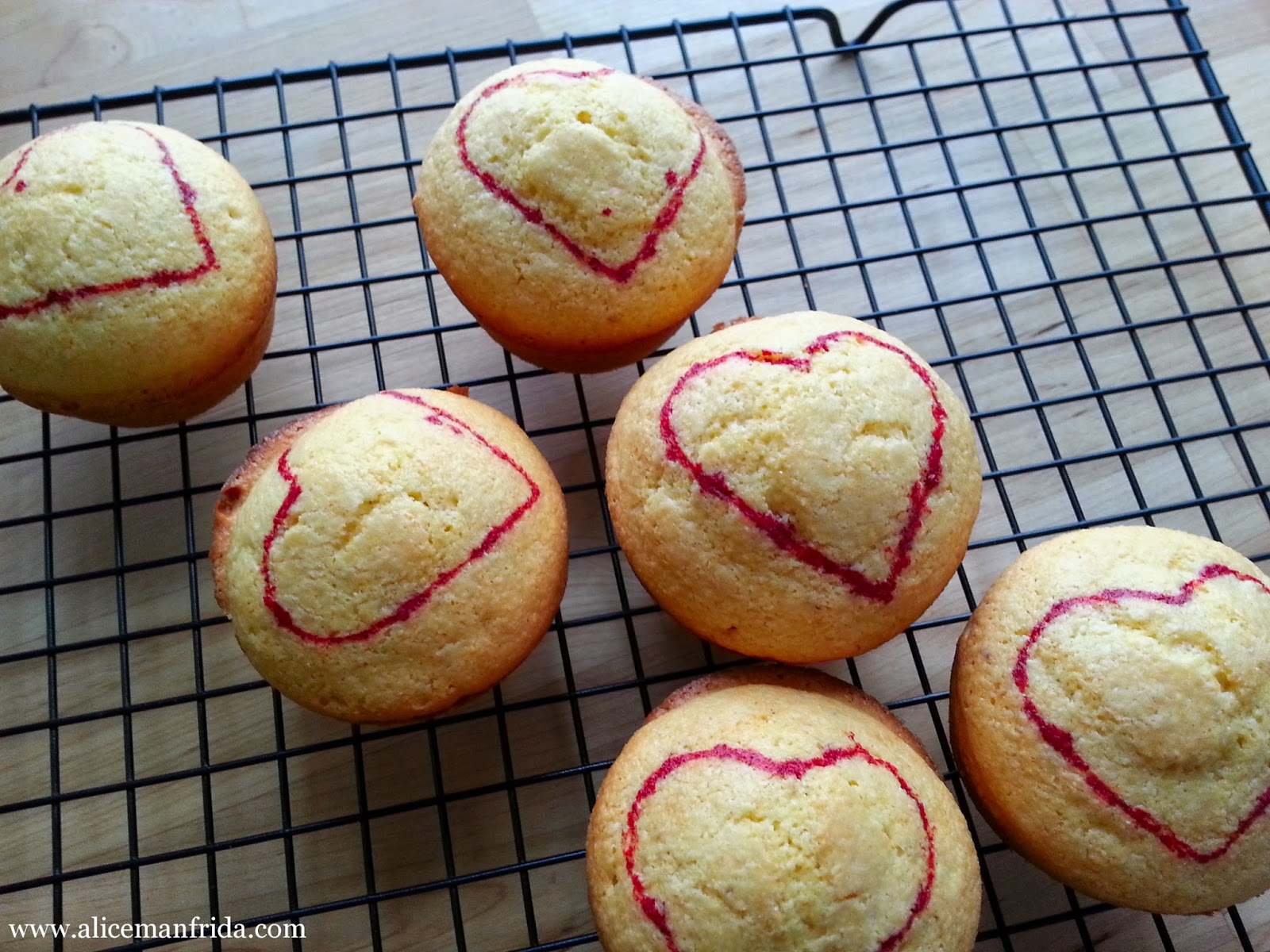 love, Valentine's Day, AliceCooks, corn muffins, baking, hearts