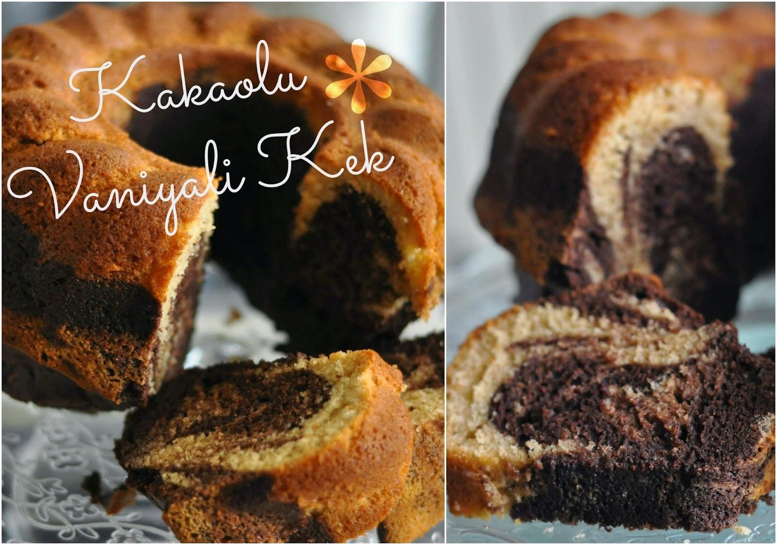 Kakaolu vanilyali kek - kek tarifi - chocolate vanilla cake