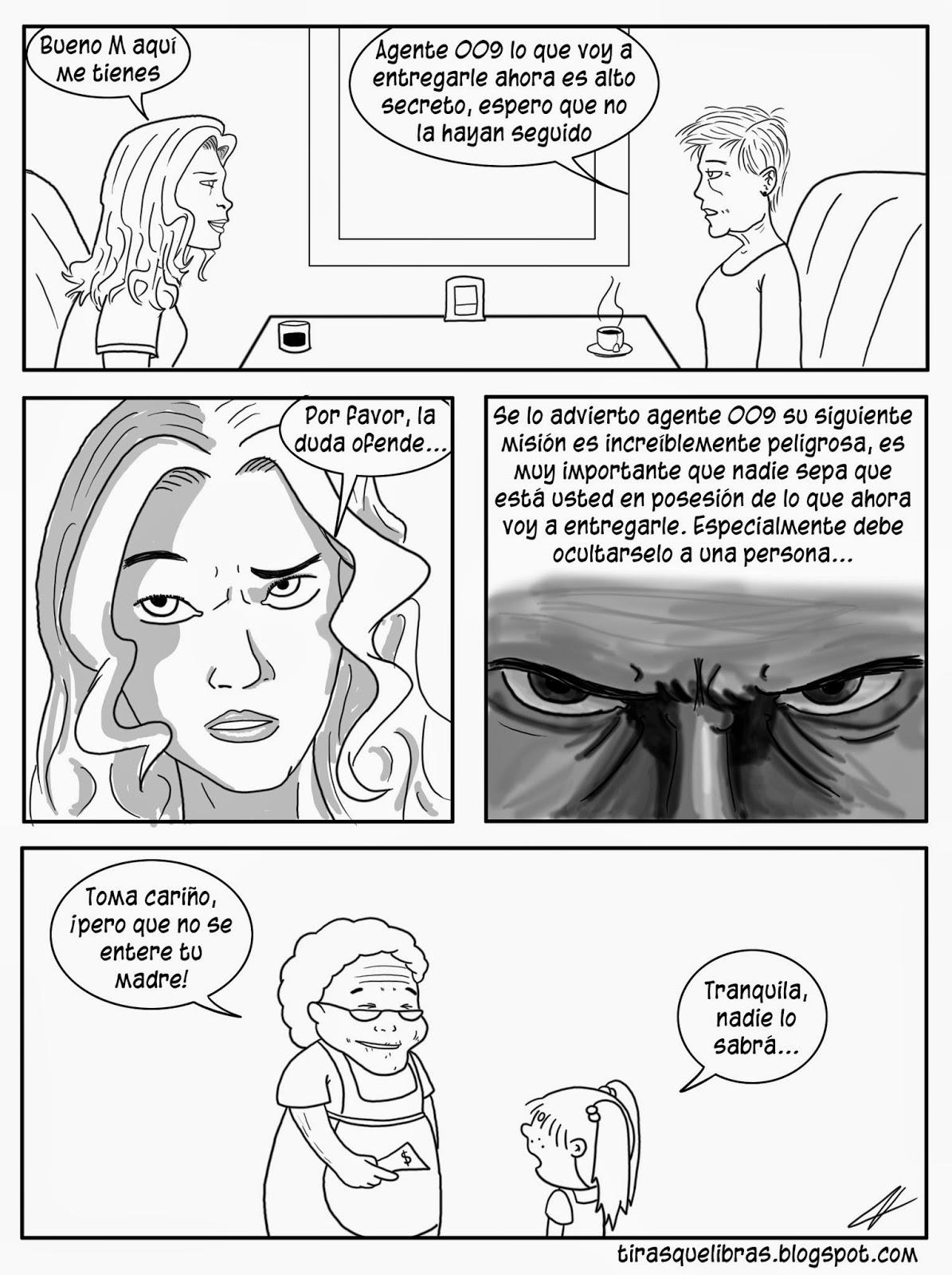webcomic, jen recibe una importante misión como la agente 009