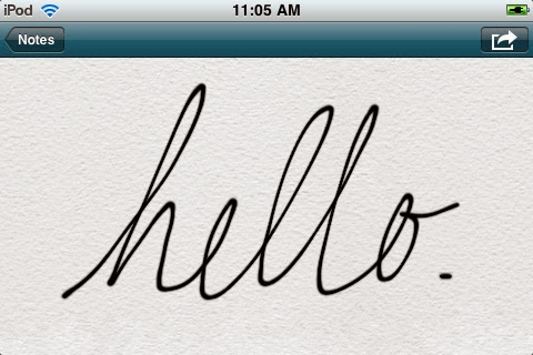 Handwriting Iphone
