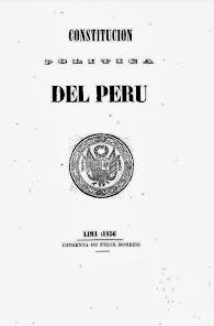 Constitución Política del Perú 1856