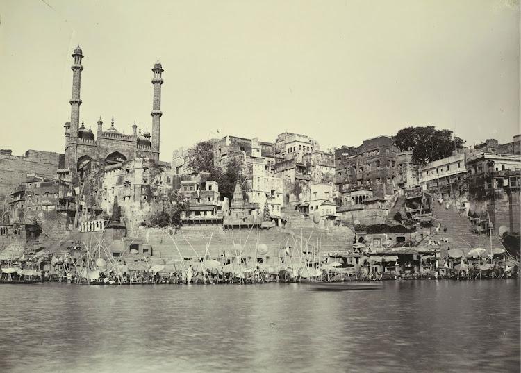 Mosque at panchaganga Ghat - Benares (Varanasi) 1905