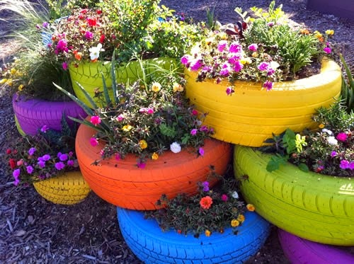 low cost creative idea for home decoration colorful planters made