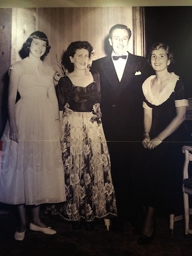 Chuck and Lori's Travel Blog - Old Photo of Walt Disney and Family onboard the Queen Elizabeth