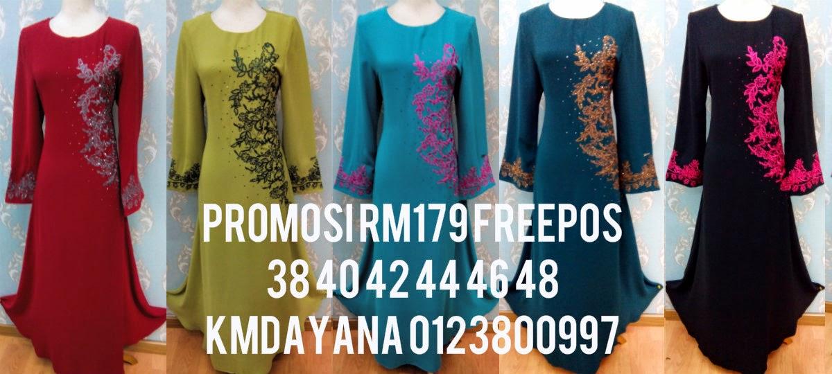 JUBAH ESTIMIA PROMOSI RM179 FREEPOS