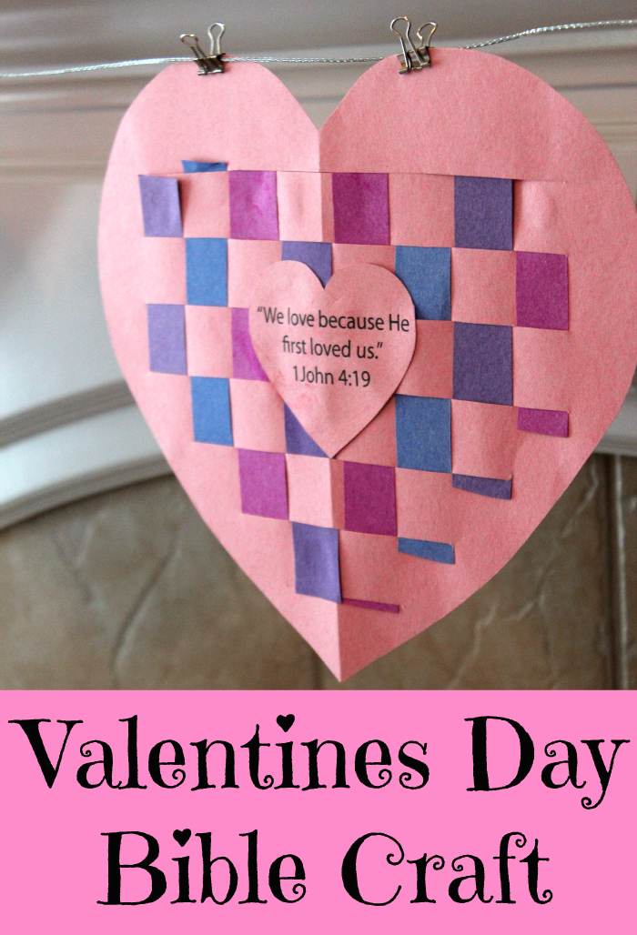 Valentines day bible craft true aim for Kids valentines day craft