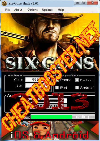 How to hack Six Guns v2.01 without jailbreak iOS & Android: