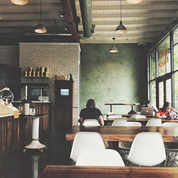 Love the look, vibe and photography in this pic of the Roman Candle Bakery, seen on Instagram