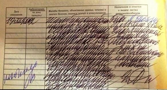 Tulisan dokter Rusia