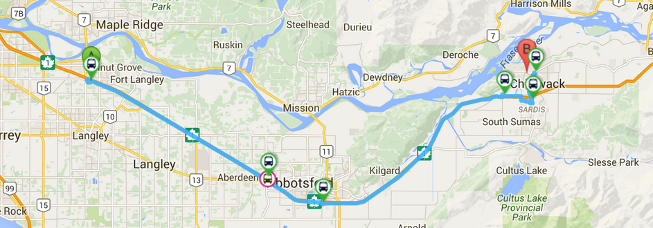 The South Fraser Blog Riding Bc Transit S 66x Through The