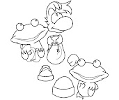 #6 Rayman Coloring Page