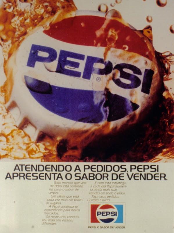 Propaganda da Pepsi em busca de novos estabelecimentos comerciais para a venda do produto.