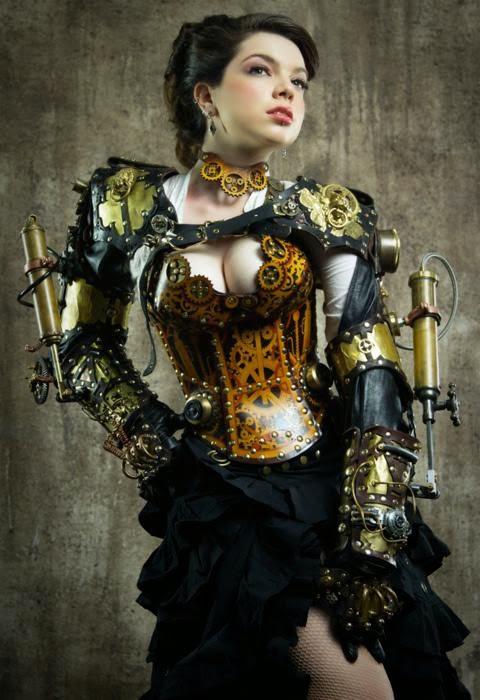 fille en steampunk sexy