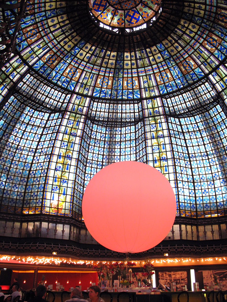 glass dome of Printemps