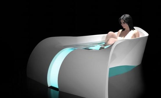 bañera de lujo