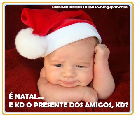 Recadinho Engraçado para o Natal Bebê Fofinho