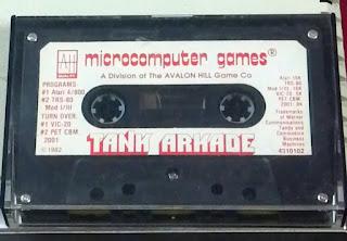 atari cassette game entitled tank arkade