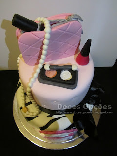 bolo de aniversário maquilhagem doces opções