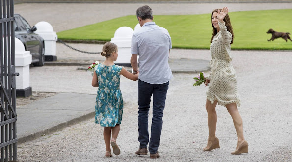Crown Prince Frederik, Crown Princess Mary, Prince Christian, Princess Isabella, Prince Vincent and Princess Josephine at horse parade