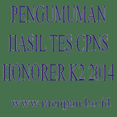 Pengumuman Hasil Tes CPNS Honorer K2 2014