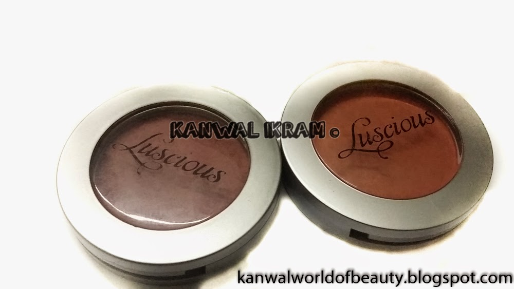 Luscious Cosmetics Blush Desert Rose and Peach Melba