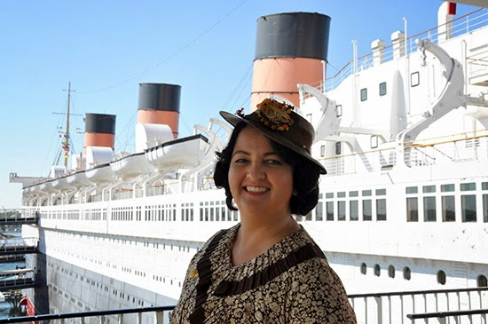 Queen Mary Art Deco Festival 1930s dress by Lady by Choice