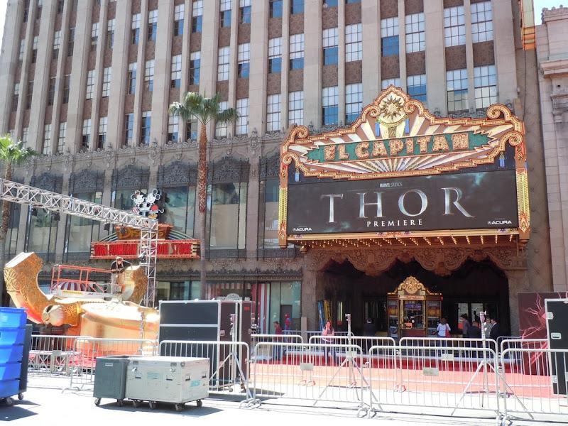 Thor Hollywood movie premiere setup