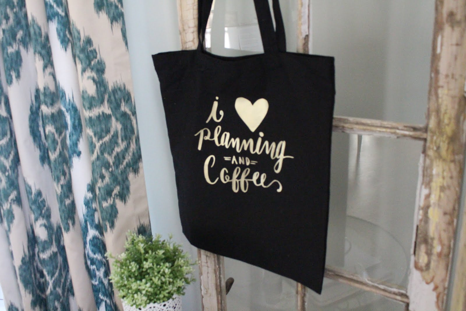 Hand Lettered Totes