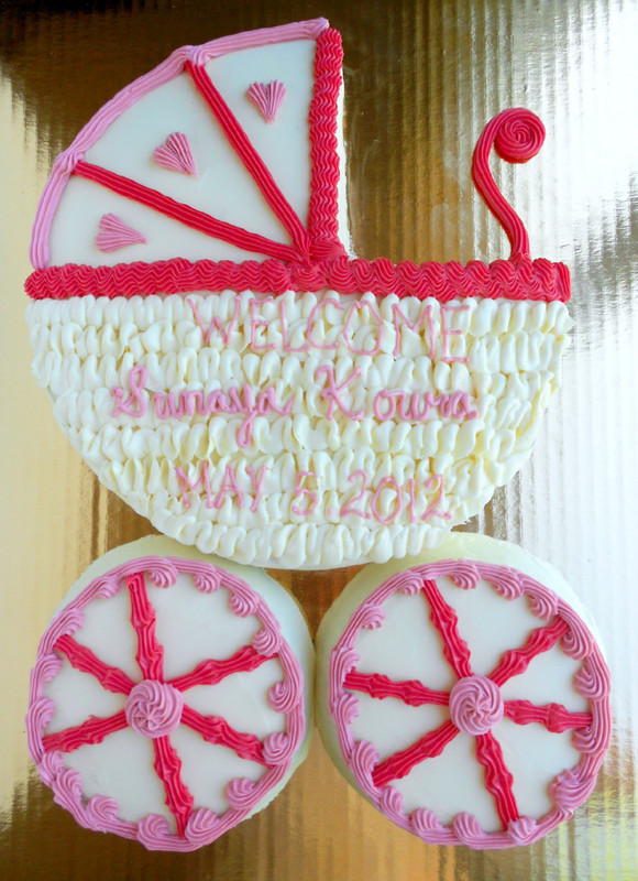 Culinary Couture: Baby Carriage Cake: Take Two