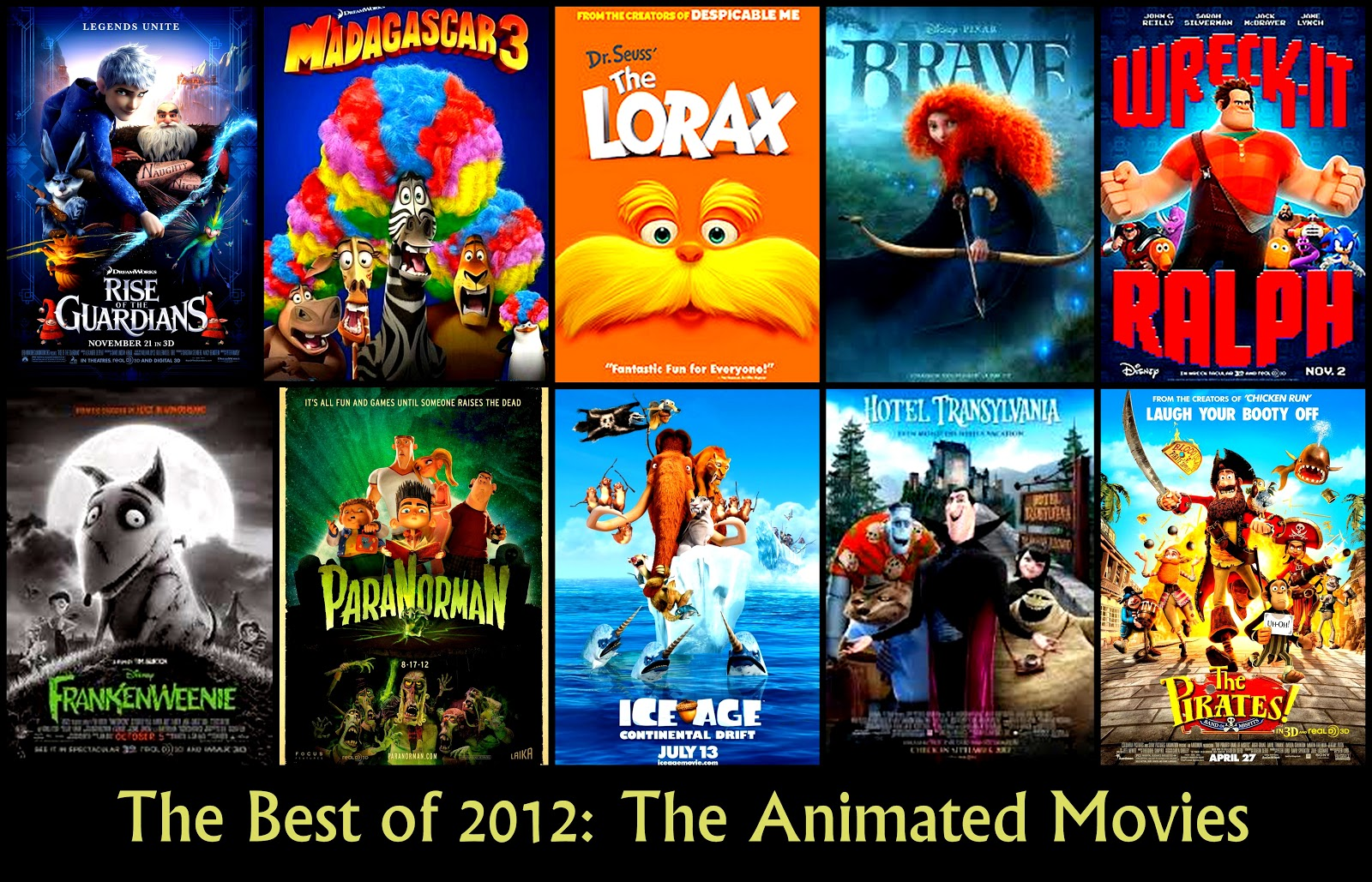 The Best Animated Movies of 2012 | The Hollywood Persona.